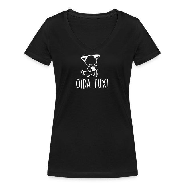 Vorschau: Oida Fux - Frauen Bio-T-Shirt mit V-Ausschnitt von Stanley & Stella