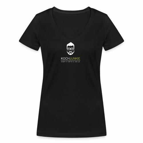 weiss trans png - Frauen Bio-T-Shirt mit V-Ausschnitt von Stanley & Stella