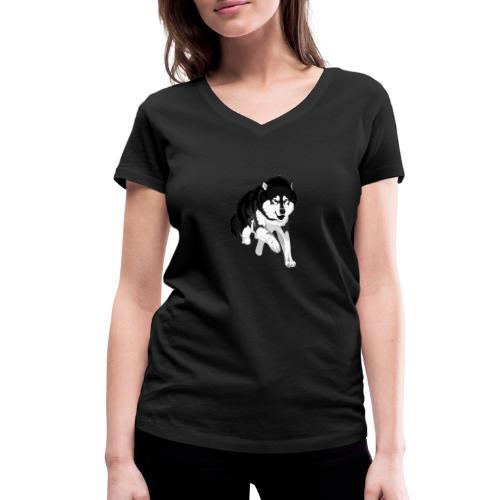 NolleDK - Økologisk Stanley & Stella T-shirt med V-udskæring til damer