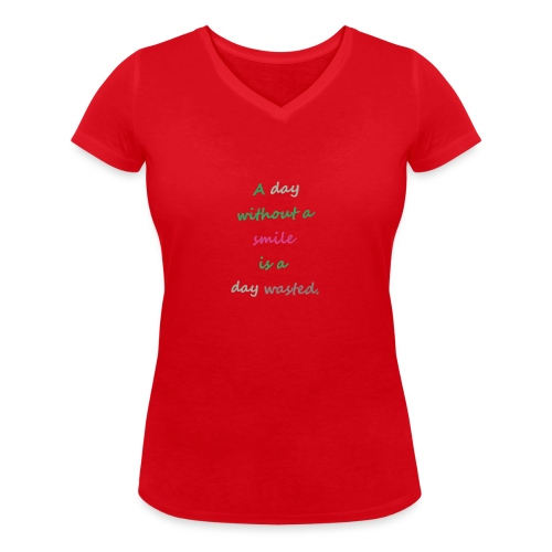 Say in English with effect - Women's Organic V-Neck T-Shirt by Stanley & Stella