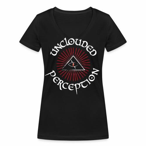 Logo red and white off. - Frauen Bio-T-Shirt mit V-Ausschnitt von Stanley & Stella