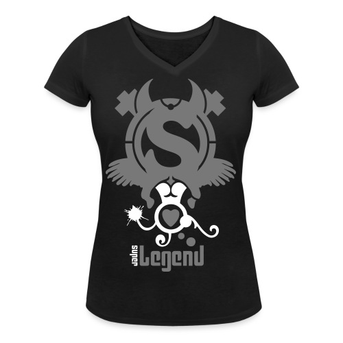 Super Legend (Woman) - Women's Organic V-Neck T-Shirt by Stanley & Stella