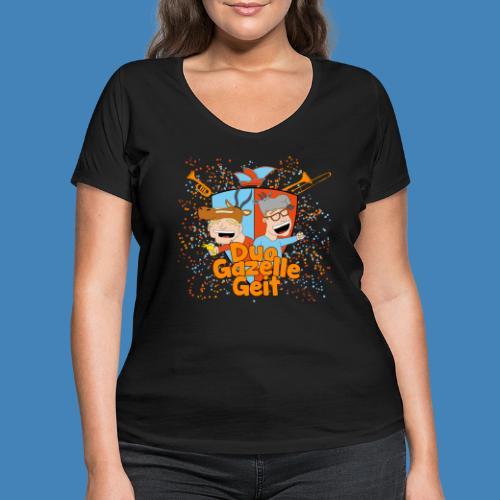 GazelleGeit - Vrouwen bio T-shirt met V-hals van Stanley & Stella