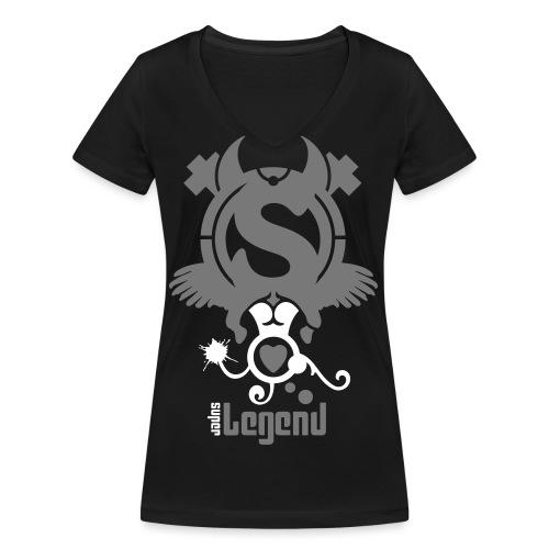 Super Legend (Woman) - Women's Organic V-Neck T-Shirt by Stanley & Stella