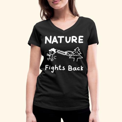 Nature fights back - Frauen Bio-T-Shirt mit V-Ausschnitt von Stanley & Stella