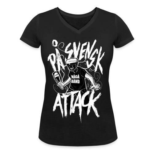 På Svenska Tack - Women's Organic V-Neck T-Shirt by Stanley & Stella