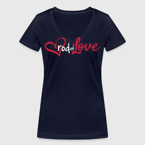 Rod of Love - Women's Organic V-Neck T-Shirt by Stanley & Stella