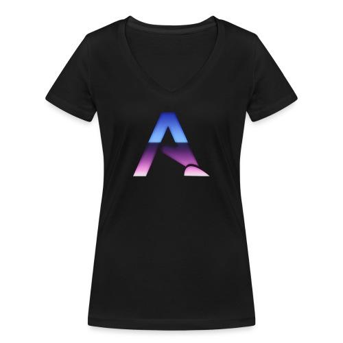 logga 3 - Ekologisk T-shirt med V-ringning dam från Stanley & Stella