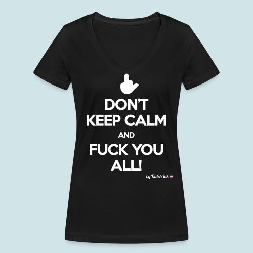 fuck you png - Vrouwen bio T-shirt met V-hals van Stanley & Stella