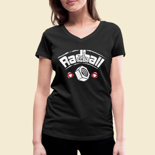 Radball   Mutter - Frauen Bio-T-Shirt mit V-Ausschnitt von Stanley & Stella