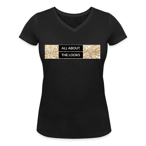 ALL ABOUT (2) - Women's Organic V-Neck T-Shirt by Stanley & Stella