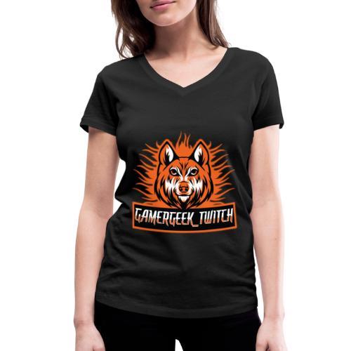 GamerGeek Logo XXXL - Frauen Bio-T-Shirt mit V-Ausschnitt von Stanley & Stella
