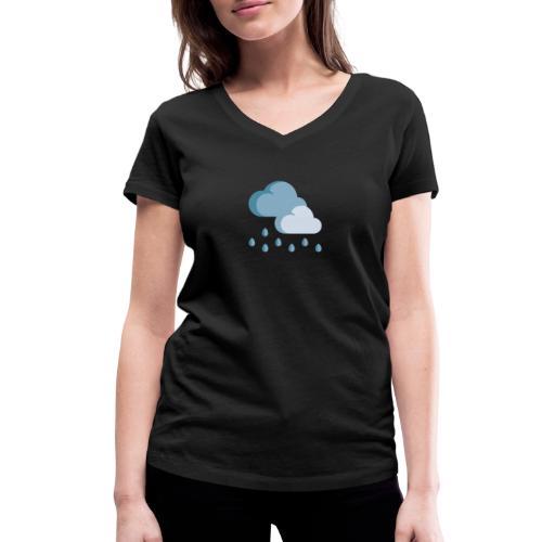 lluvia - Camiseta ecológica mujer con cuello de pico de Stanley & Stella