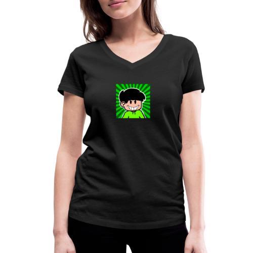 Linus e lite mindre glad - Ekologisk T-shirt med V-ringning dam från Stanley & Stella