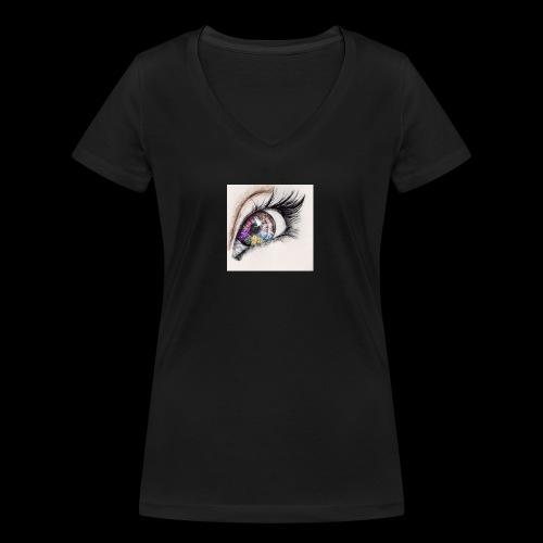 desenho design olhos eye Favim com 403064 - Vrouwen bio T-shirt met V-hals van Stanley & Stella