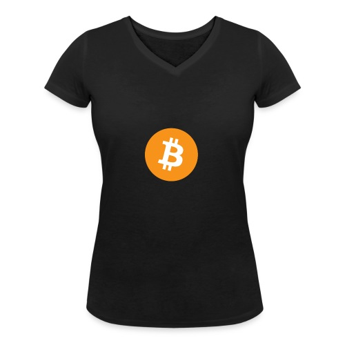 Bitcoin - Vrouwen bio T-shirt met V-hals van Stanley & Stella