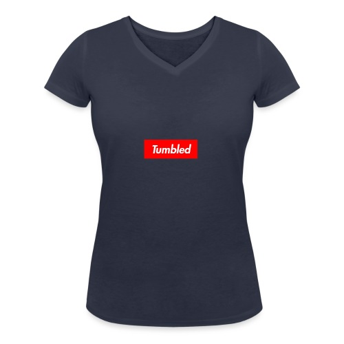 Tumbled Official - Women's Organic V-Neck T-Shirt by Stanley & Stella