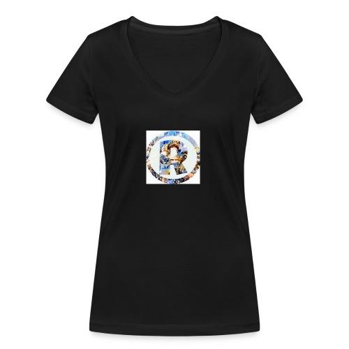 RazeDT design - Stanley & Stellan naisten v-aukkoinen luomu-T-paita
