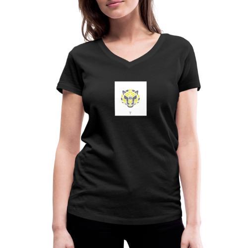 Tiger fra jungle - Økologisk Stanley & Stella T-shirt med V-udskæring til damer