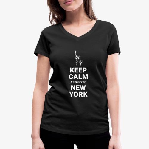 Keep calm and go to New York - Frauen Bio-T-Shirt mit V-Ausschnitt von Stanley & Stella