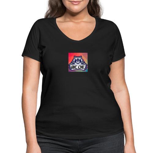 bcde_logo - Frauen Bio-T-Shirt mit V-Ausschnitt von Stanley & Stella