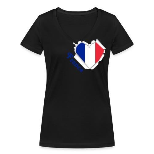 Frankreich - Frauen Bio-T-Shirt mit V-Ausschnitt von Stanley & Stella