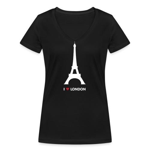 I love London - Vrouwen bio T-shirt met V-hals van Stanley & Stella
