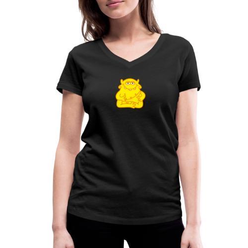 Happy Buddha - Frauen Bio-T-Shirt mit V-Ausschnitt von Stanley & Stella