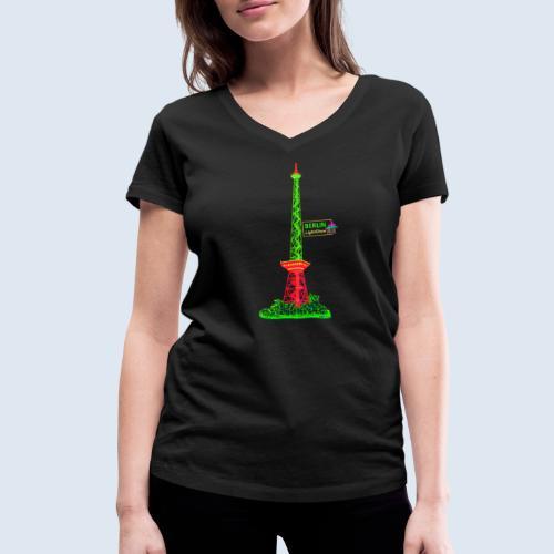 """Berliner Original """"Funkturm"""" PopArt Design - Frauen Bio-T-Shirt mit V-Ausschnitt von Stanley & Stella"""