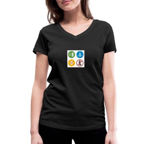 4kriteria obi vierkant - Vrouwen bio T-shirt met V-hals van Stanley & Stella