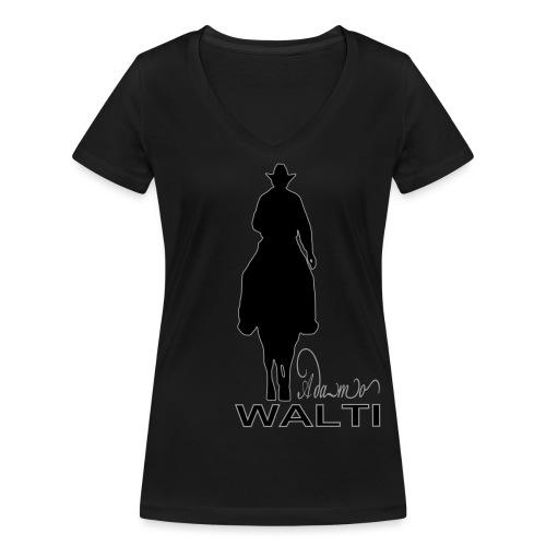 adamo sill schrift klein - T-shirt bio col V Stanley & Stella Femme