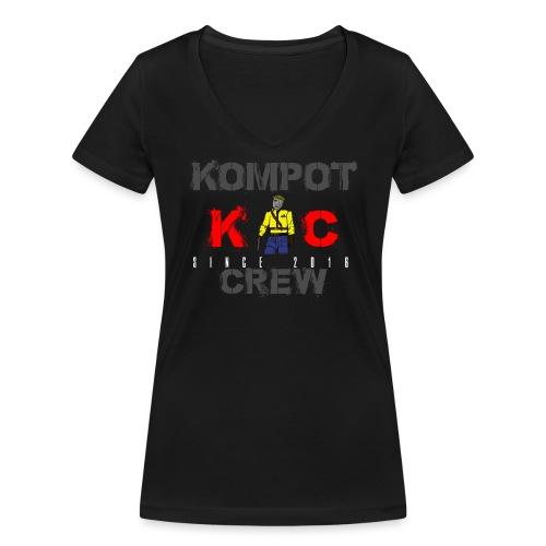 Abbigliamento Kompot Crew - T-shirt ecologica da donna con scollo a V di Stanley & Stella