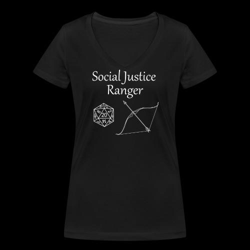 Social Justice Ranger - Women's Organic V-Neck T-Shirt by Stanley & Stella
