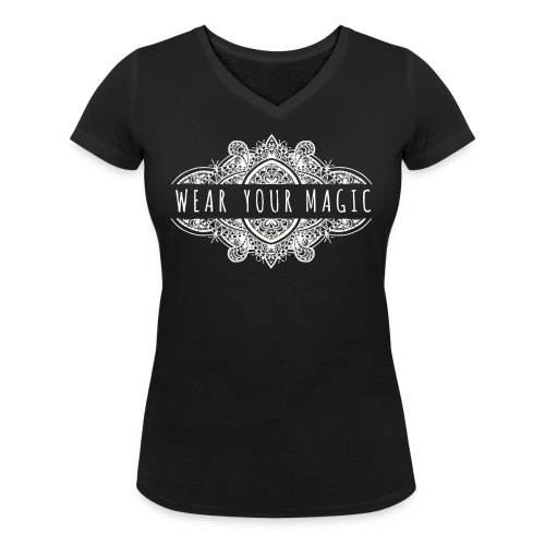 Wear Your Magic - Women's Organic V-Neck T-Shirt by Stanley & Stella