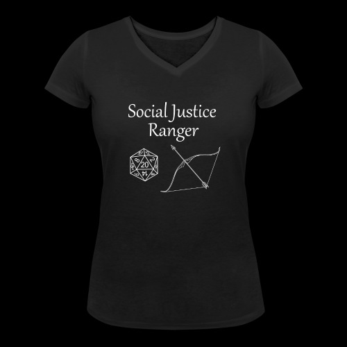 Social Justice Ranger - Women's Organic V-Neck T-Shirt by Stanley & Stella