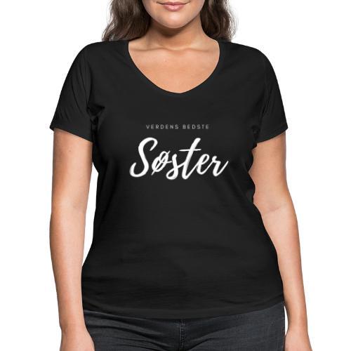 Verdens bedstesøster - Økologisk Stanley & Stella T-shirt med V-udskæring til damer