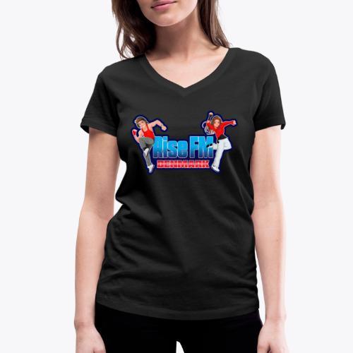 Rise FM Denmark Full Logo - Økologisk Stanley & Stella T-shirt med V-udskæring til damer
