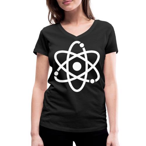 Atommodell - Frauen Bio-T-Shirt mit V-Ausschnitt von Stanley & Stella