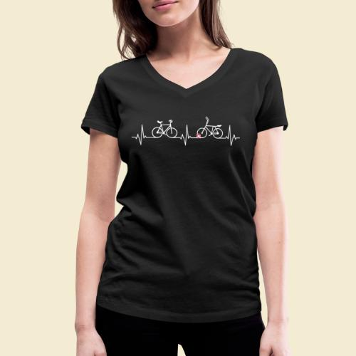 Heart Monitor Kunstrad & Radball - Frauen Bio-T-Shirt mit V-Ausschnitt von Stanley & Stella