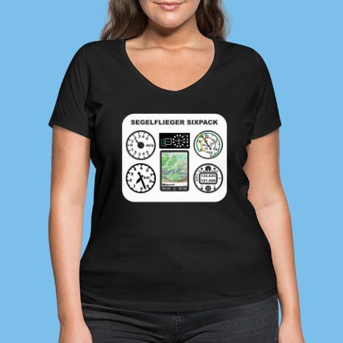 segelflieger sixpack Segelflugzeug Geschenk lustig - Frauen Bio-T-Shirt mit V-Ausschnitt von Stanley & Stella
