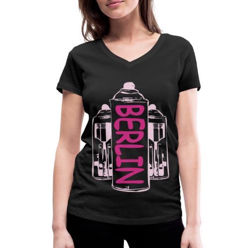 Berlin Power - Frauen Bio-T-Shirt mit V-Ausschnitt von Stanley & Stella