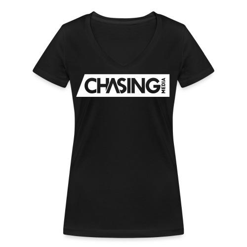 ChasingMedia Logo - Frauen Bio-T-Shirt mit V-Ausschnitt von Stanley & Stella