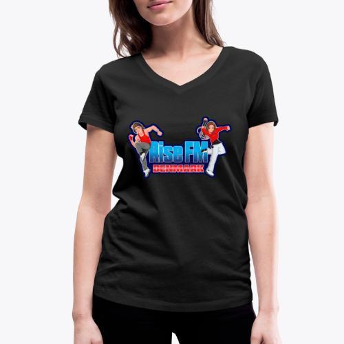 Rise FM Logo - Women's Organic V-Neck T-Shirt by Stanley & Stella