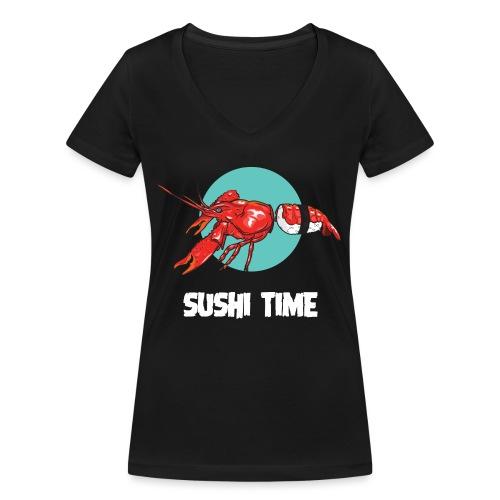SUSHI TIME-gambero-b - T-shirt ecologica da donna con scollo a V di Stanley & Stella