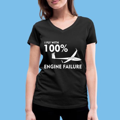 Motor Segelflugzeug lustig gleiten Segelflieger - Frauen Bio-T-Shirt mit V-Ausschnitt von Stanley & Stella
