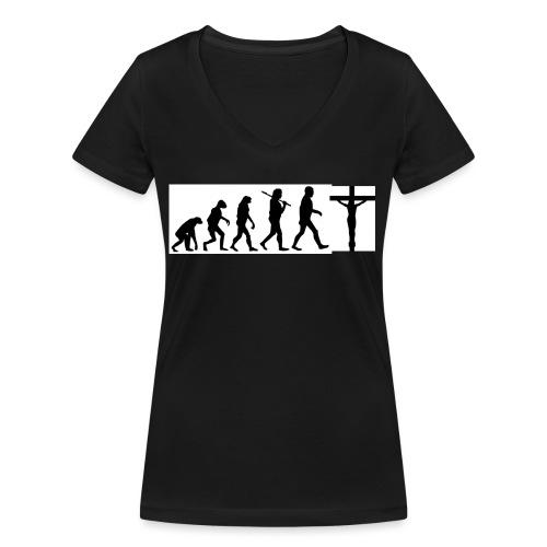 Evolution png - Frauen Bio-T-Shirt mit V-Ausschnitt von Stanley & Stella