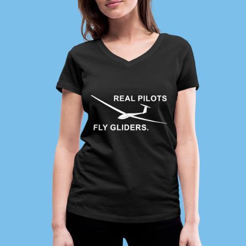 Segelflieger Segelflugzeug gleiten Geschenkidee - Frauen Bio-T-Shirt mit V-Ausschnitt von Stanley & Stella