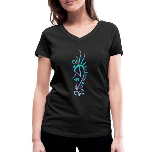 Unicorn Signet / Einhorn Signet - Frauen Bio-T-Shirt mit V-Ausschnitt von Stanley & Stella
