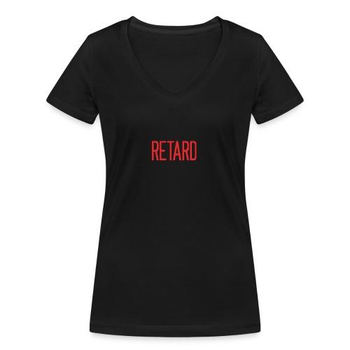 Retard Klær - Økologisk T-skjorte med V-hals for kvinner fra Stanley & Stella