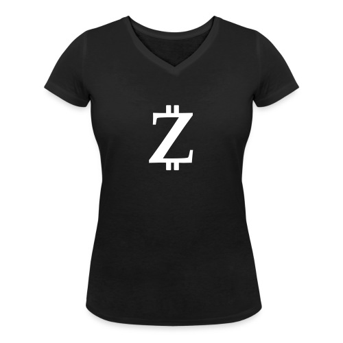 Big Z black - Women's Organic V-Neck T-Shirt by Stanley & Stella